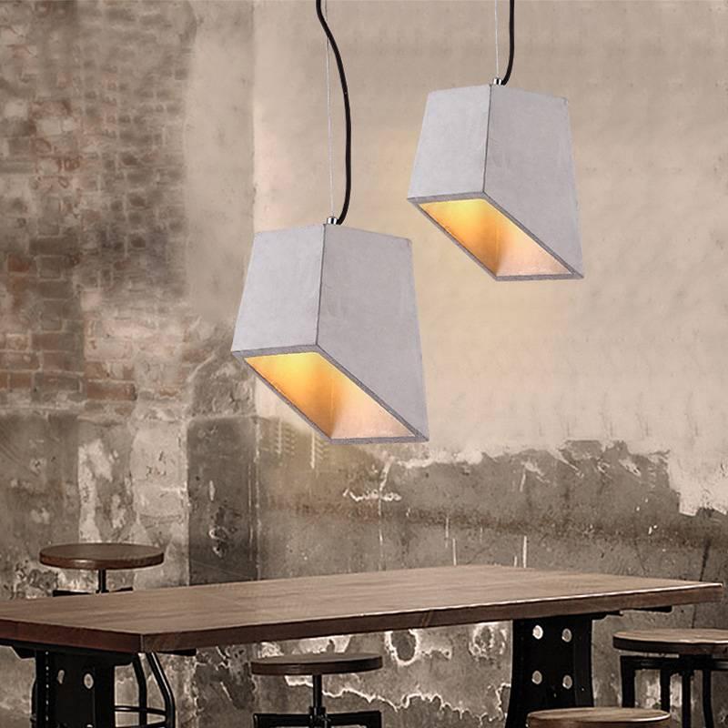 contemporary irregular shape chandelier, E27 cement pendant light for living room, restaurant & parl