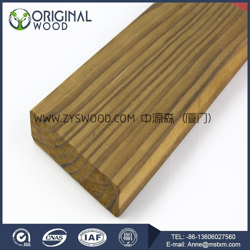 Thermo pine wood flooring made in China