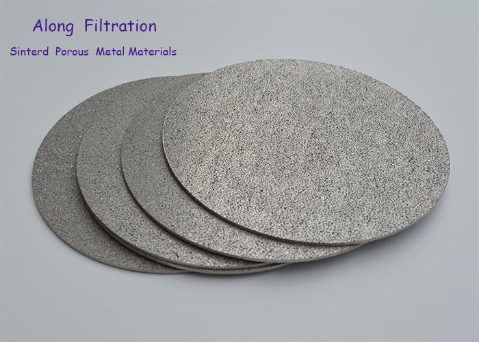 High filter precision sintered porous titanium filter elements