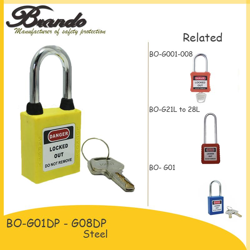New design safety ABS padlock loto locks locker padlock with key differ