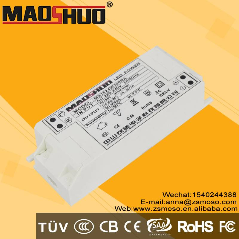 Constant current led driver 18-24x1w PFC 0.9