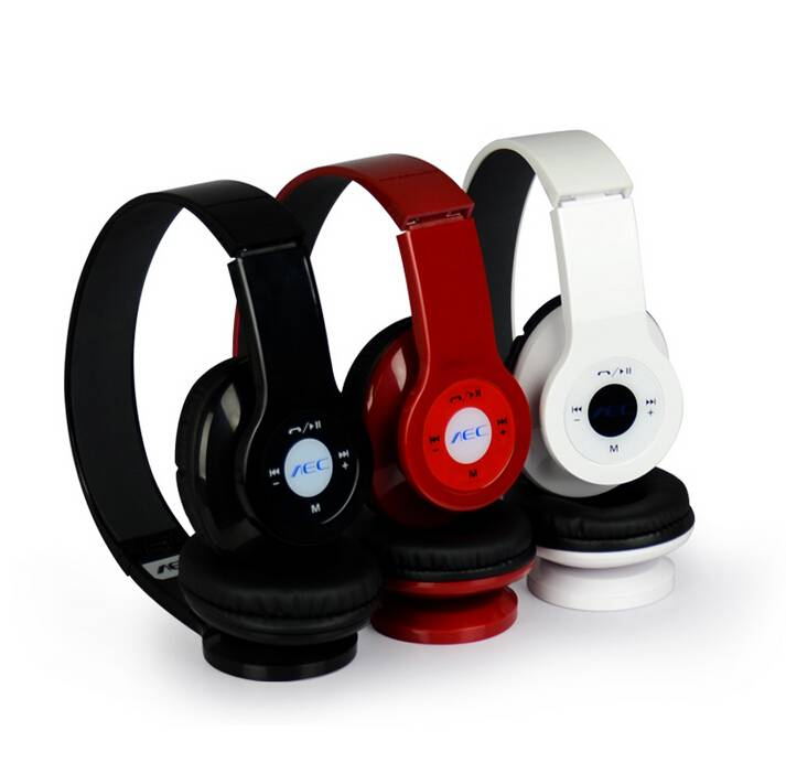 High Quality Foldable Wireless Bluetooth MP3 Player Stereo Headphone