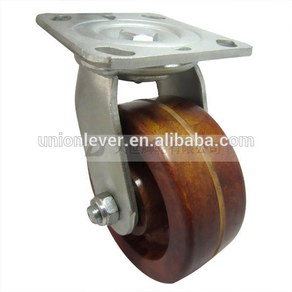 5 inch Plate swivel high temperature caster of 300 degree C series