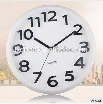 White 3D number Wall Clock Simple design
