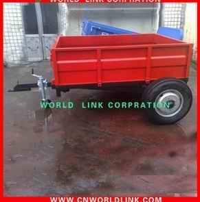 side steel industrial cargo dolly semi trailer