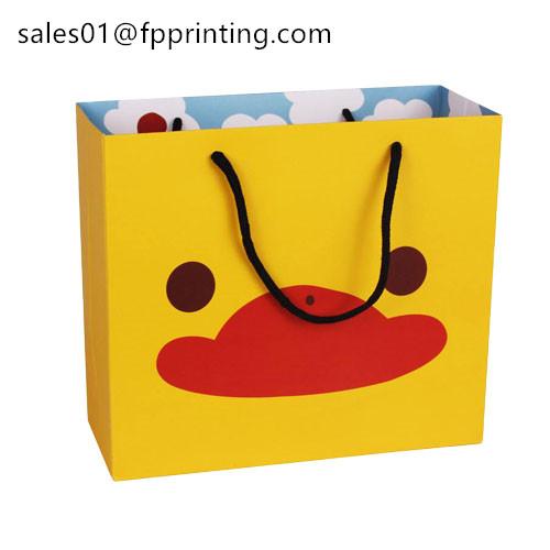Custom CMYK Offset Printing White Cardboard Paper Bag