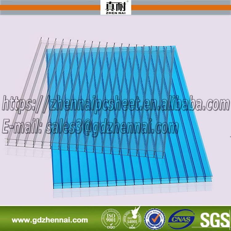 twin wall lake blue polycarbonate sheet, hollow pc sheet,pc sheet,sun sheet on sale