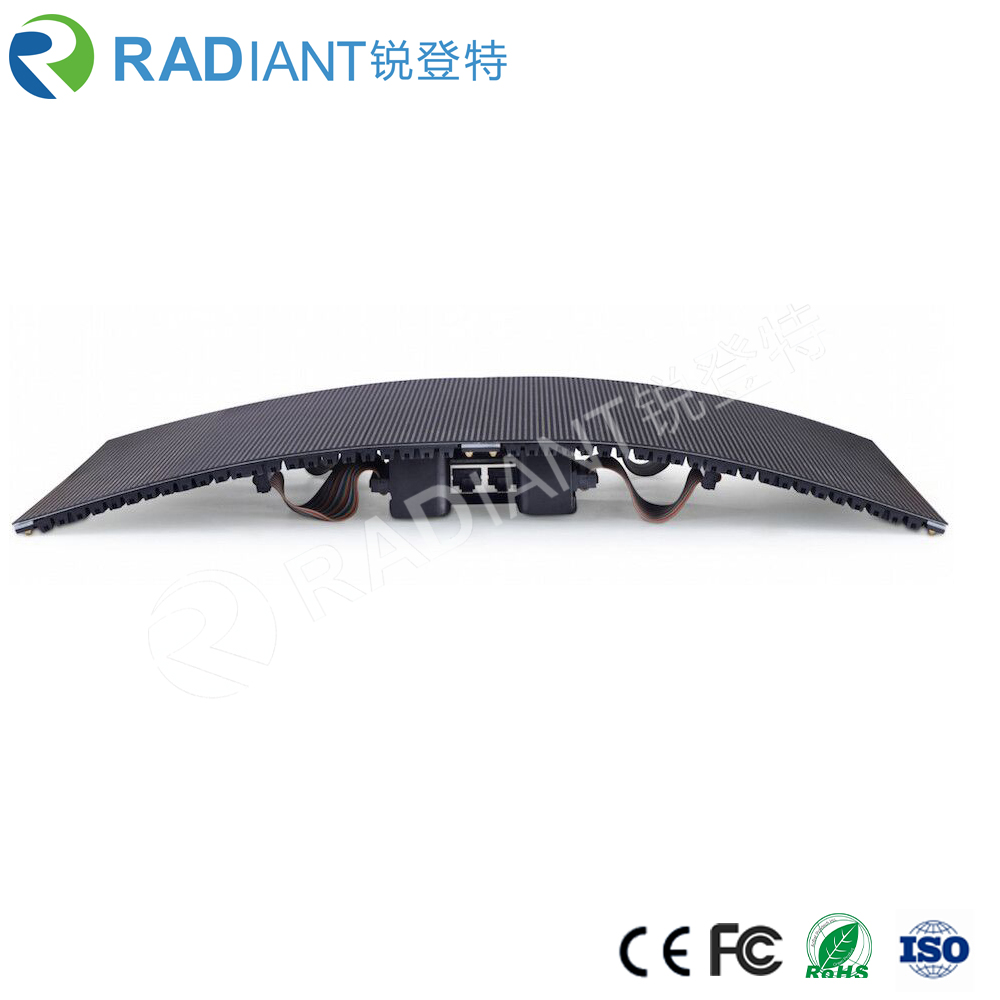 Radiant Led design P2.5 HD flexible curved soft creative LED screen for tv studio