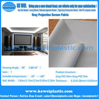 Grey Projection Screen Film