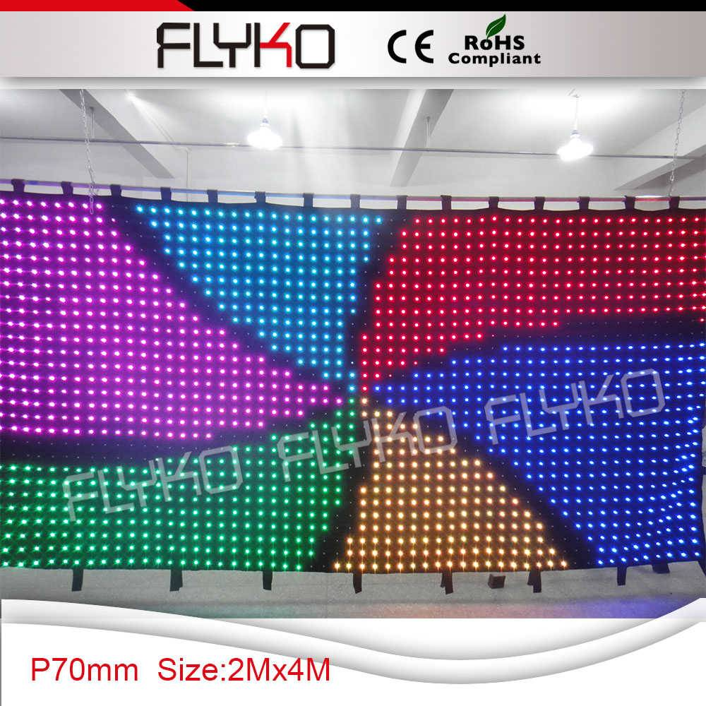stage background full color flexible led video curtain