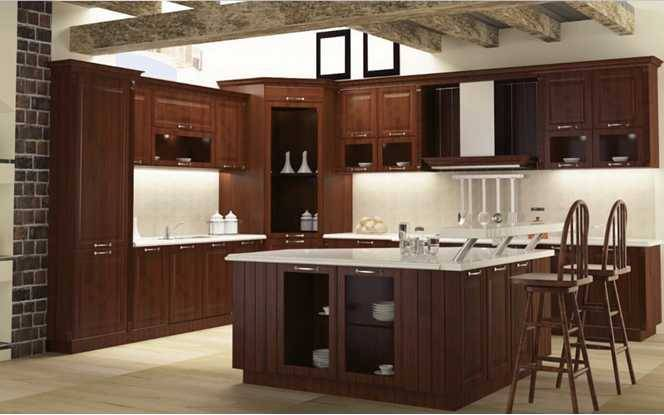 Venus,OUYI Classic Solid Wood Kitchen Cabinet