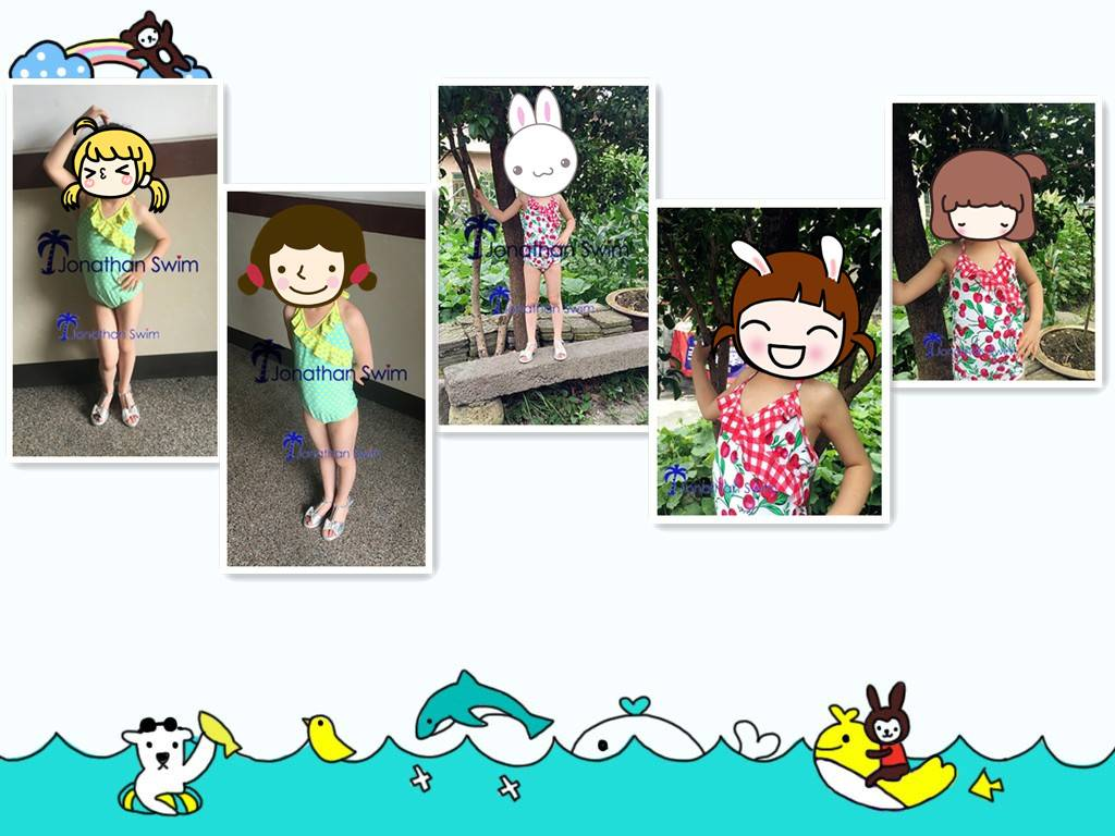 2017 new style children's swimwear lovely