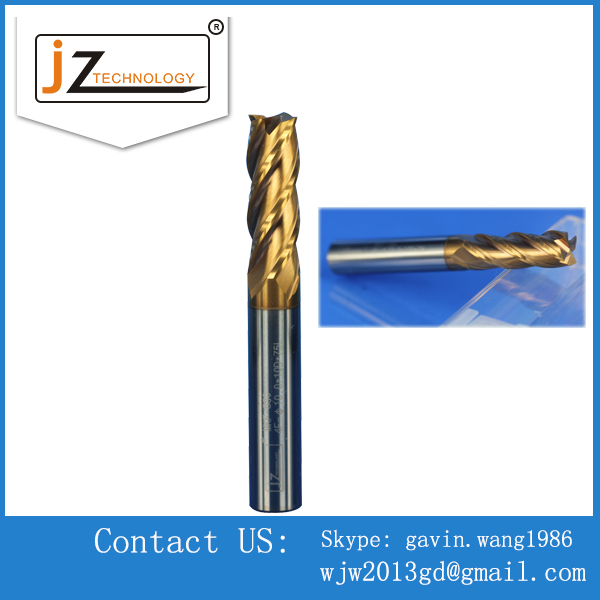 Precision CNC turning Long shank 4 flutes square Carbide end mills