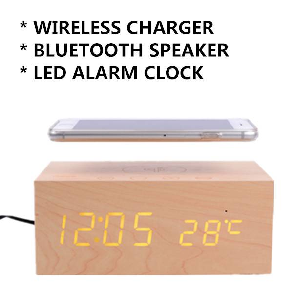 PC Mobile Phone Magic Bluetooth Speaker Clock Charger
