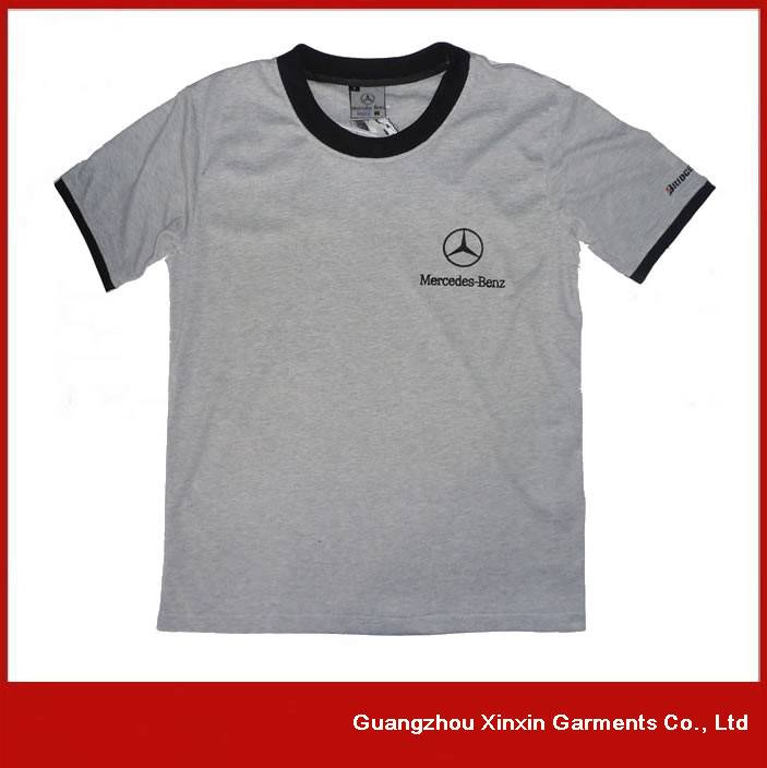 Custom Printing Logo Cotton Round Neck T-Shirt for racing
