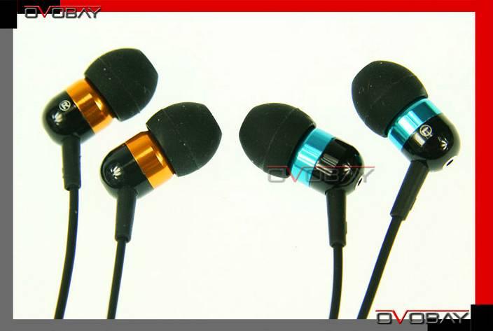 Good quality 3.5mm stereo metal earphone(100pc/lot) For iPod , Mp3 100pcs/lot