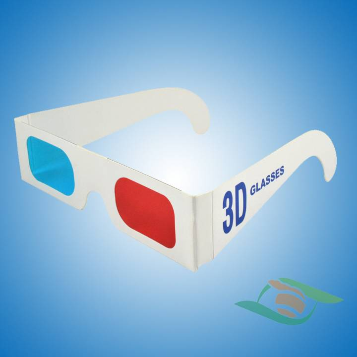 fashion OEM red cyan cinema 3d glasses paper red cyan glasses manufacture