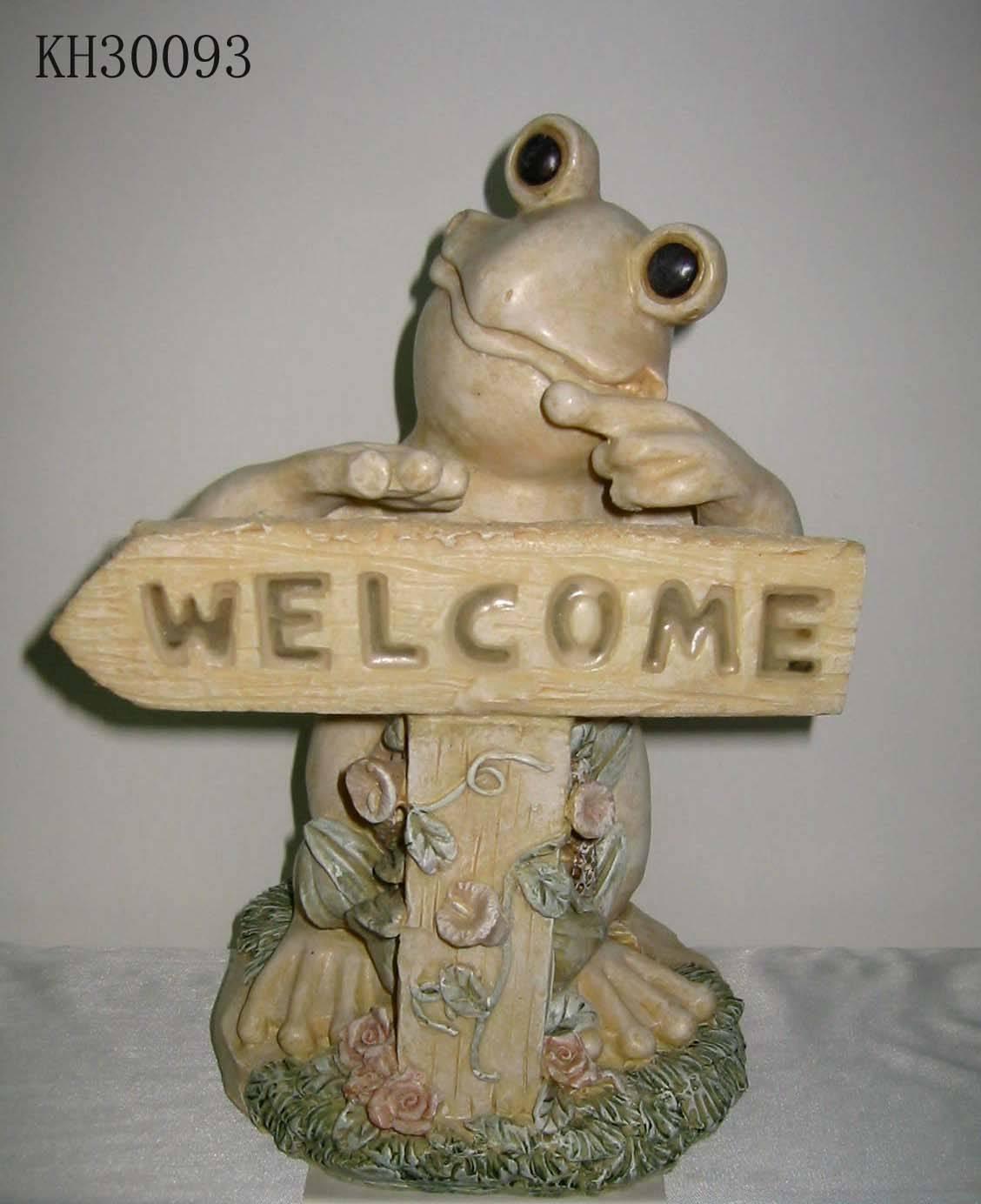 Polyresin frog figurine