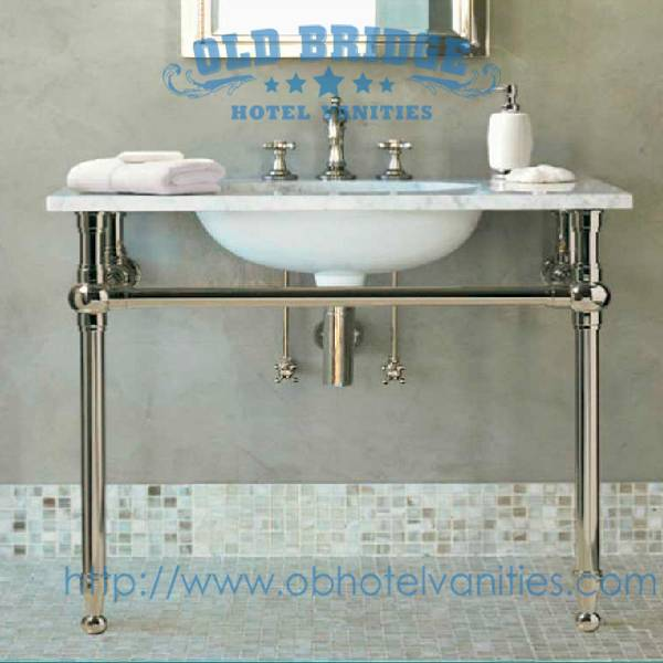 High quality stainless steel vanity base with metal legs