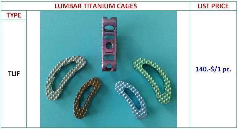 Lumbar Titanium Cage