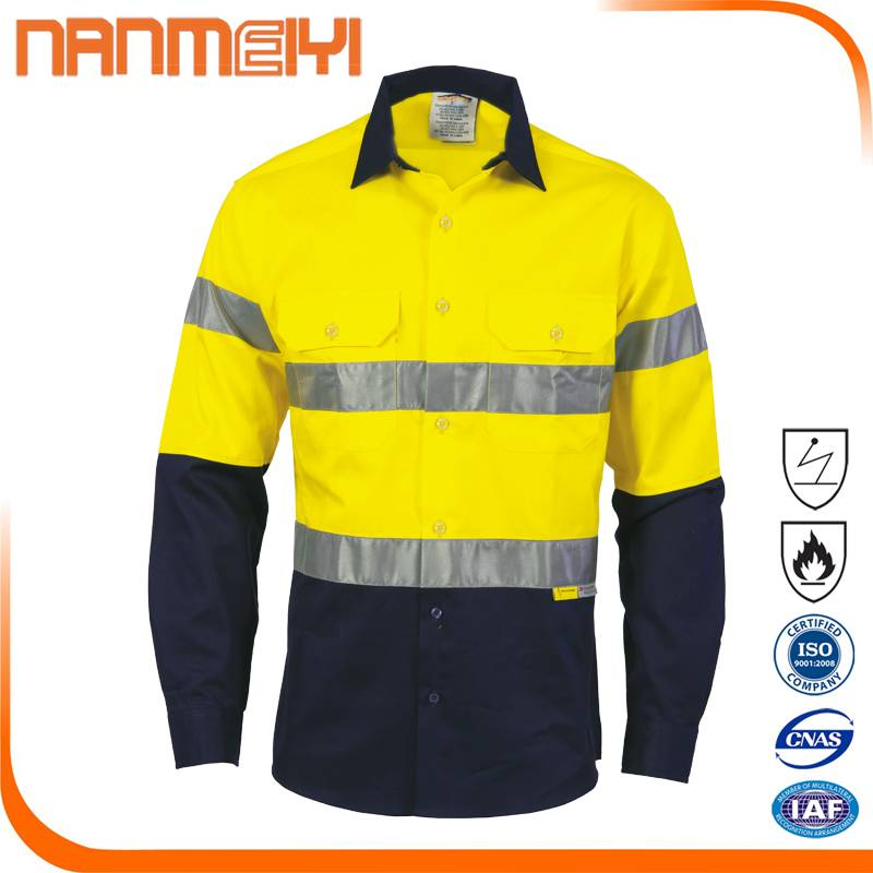 Cheap Work Clothes Reflective Work Shirt with Reflective Strip