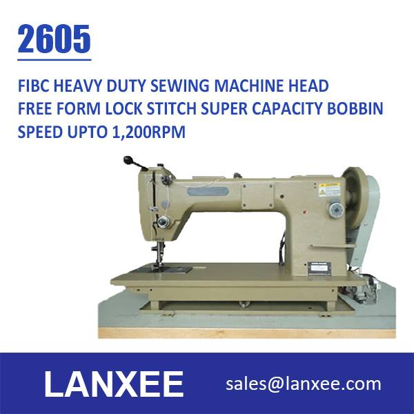 Lanxee 2605 Heavy Duty Lockstitch FIBC Jombo Bag Sewing Machine