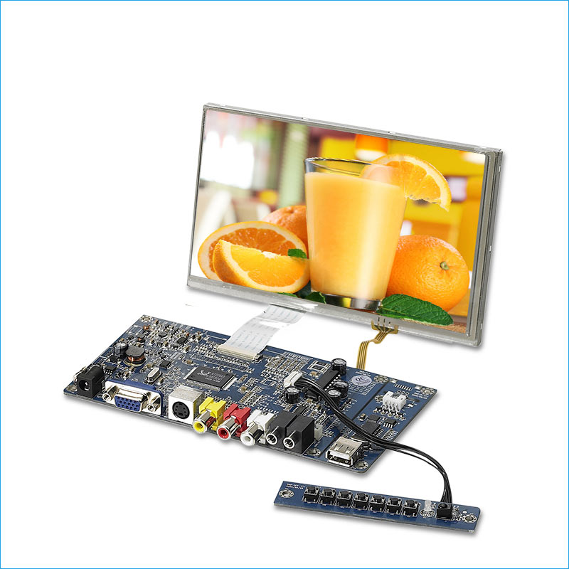 7 inch resistive touch screen display tft lcd module