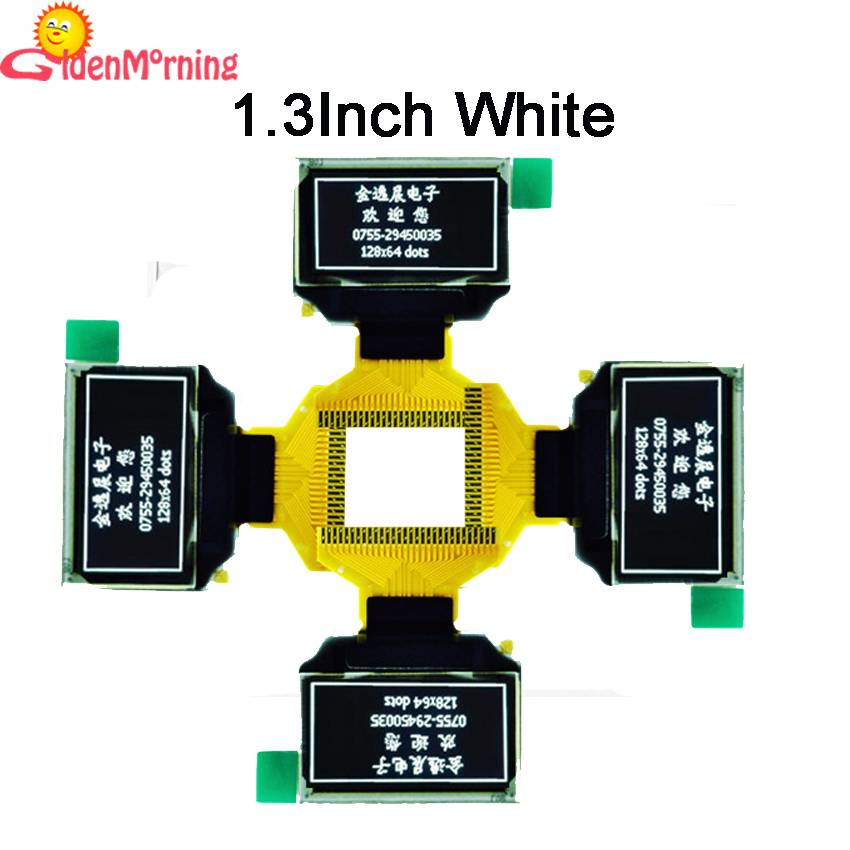 1.3-inch OLED Display Module with 128x64 px Resolution, white Color