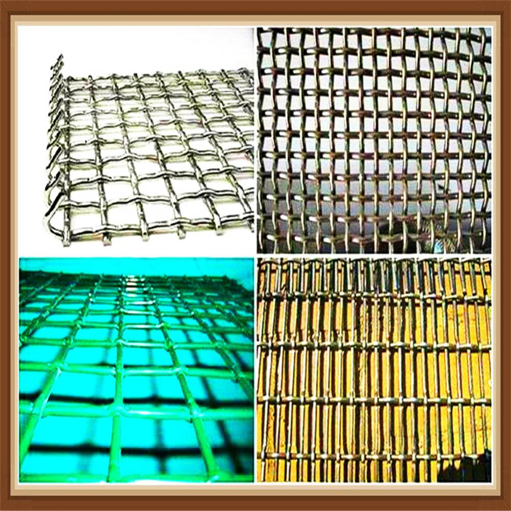 High Tensile Stainless Steel Crimped Wire Mesh Mining Sieve