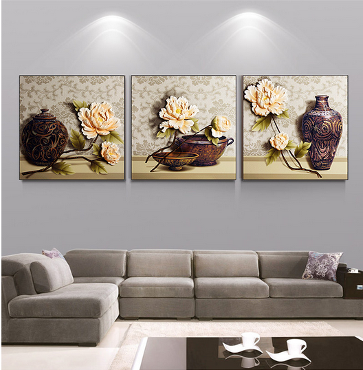 Modern home decor picture 3D relief painting