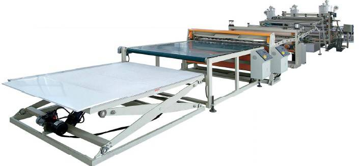 ABS/PMMA Co-extrusion Sanitaryware Plate; ABS, HIPS/GPPS Refrigerator Plate Extrusion Line