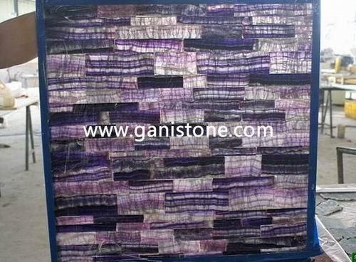 Violet Fluorite Crystal Slab