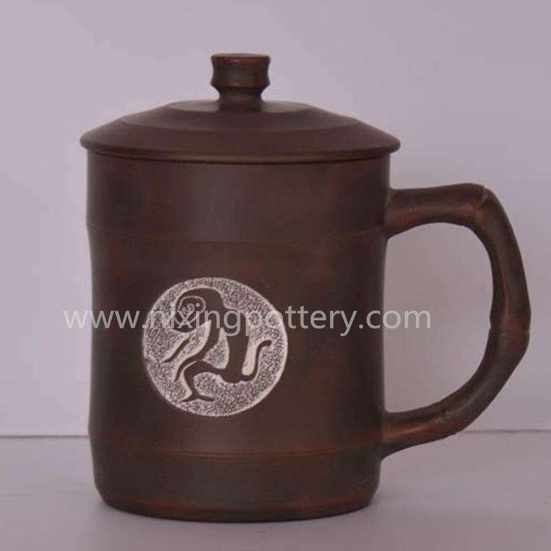 Ceramic Tea Cups Yixing Tea Cups Monkey Tea Mug Nixing Pottery Tea Cup