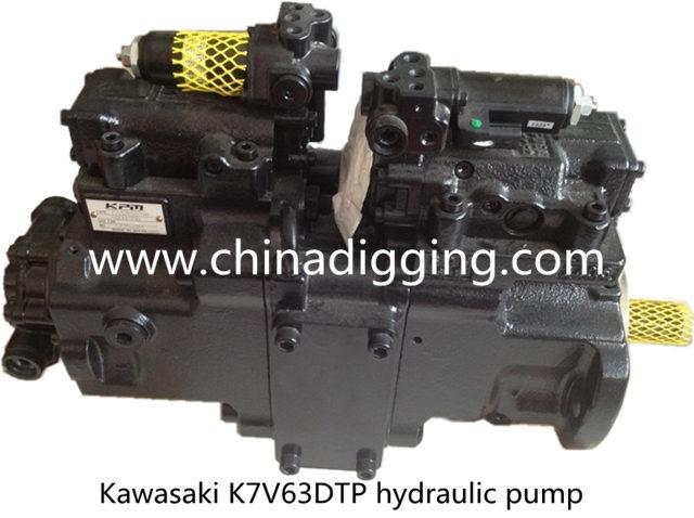 Kawasaki K7V63DTP excavator hydraulic pump main pump assy