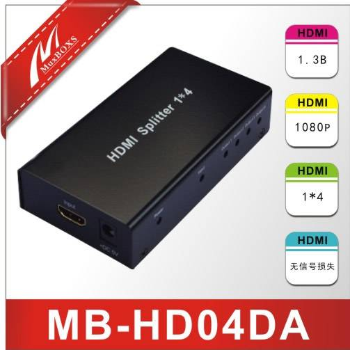 1Input ,4output HDMI Splitter