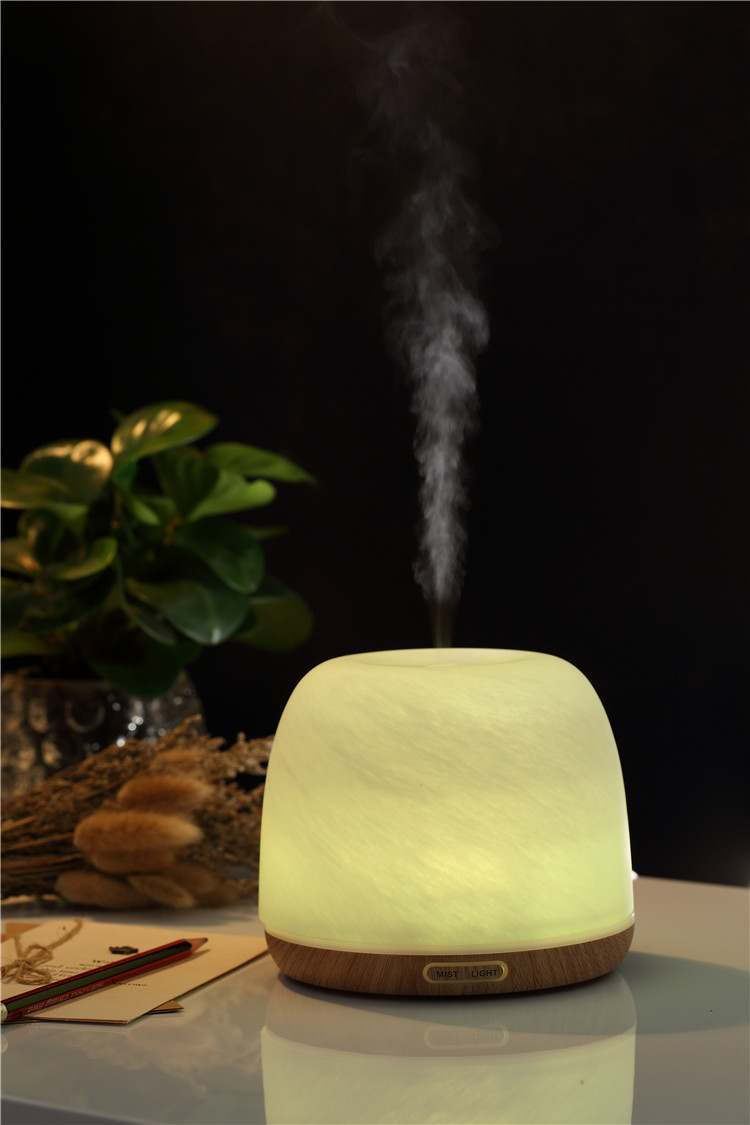 300ml electric speaker aroma diffuser,glass light wood grain household aroma essential oil diffuser
