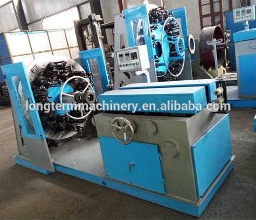 Horizontal stainless steel wire braiding machine