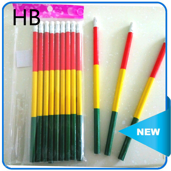 high quality pencil wooden pencils black lead HB pencil with earser
