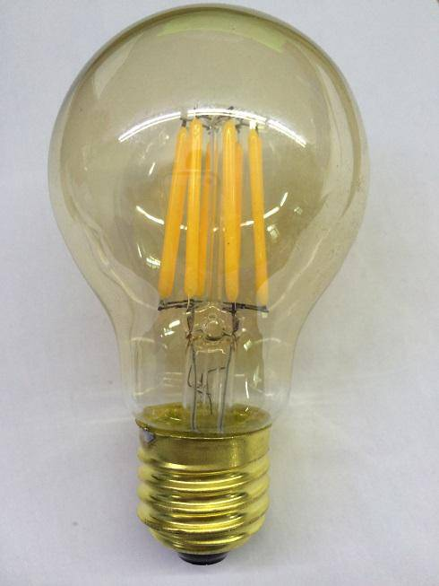 A60 5W Gold Print LED filament bulb