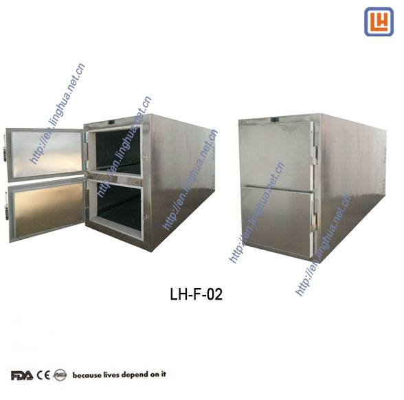 Mortuary Equipment 2 Rooms Corpse  Mortuary Cooler for Corpse Cold Storage in Funeral Morgue