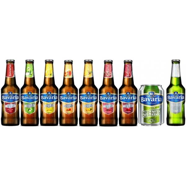 BAVARIA 0.0% / 8.6 NON ALCOHOLIC AND ALCOHOLIC BEER