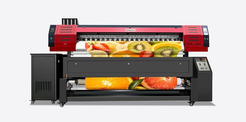Digital sublimation textile printer with double print heads