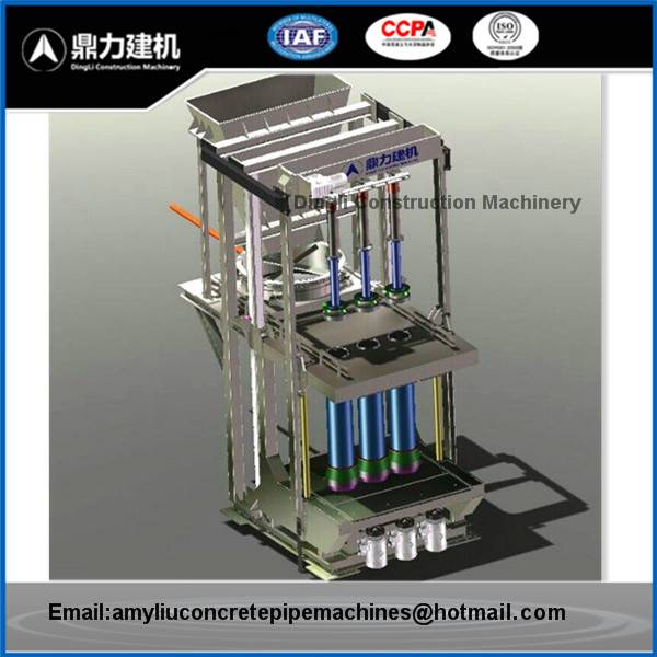 Small Mandrel Vibration Concrete Pipe Making Machine
