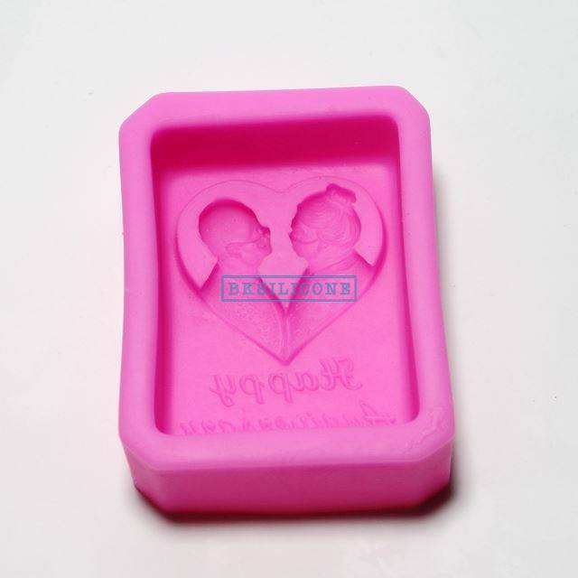 Wedding Silicone Molds Chocolate Cake Cooky Mold Live To Old Age In Conjugal Blisss AB017
