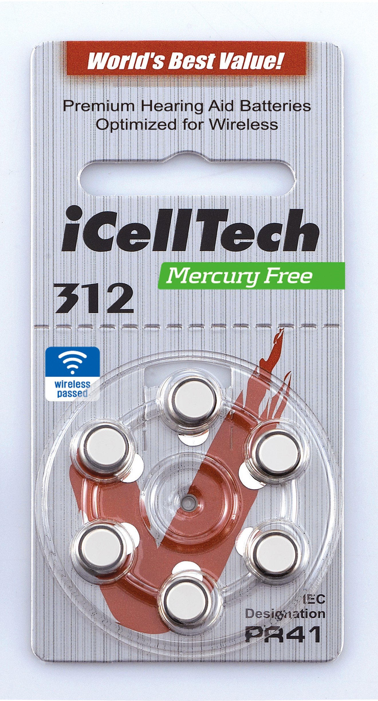 312 Zinc Air Mercury Free Hearing Aid Batteries