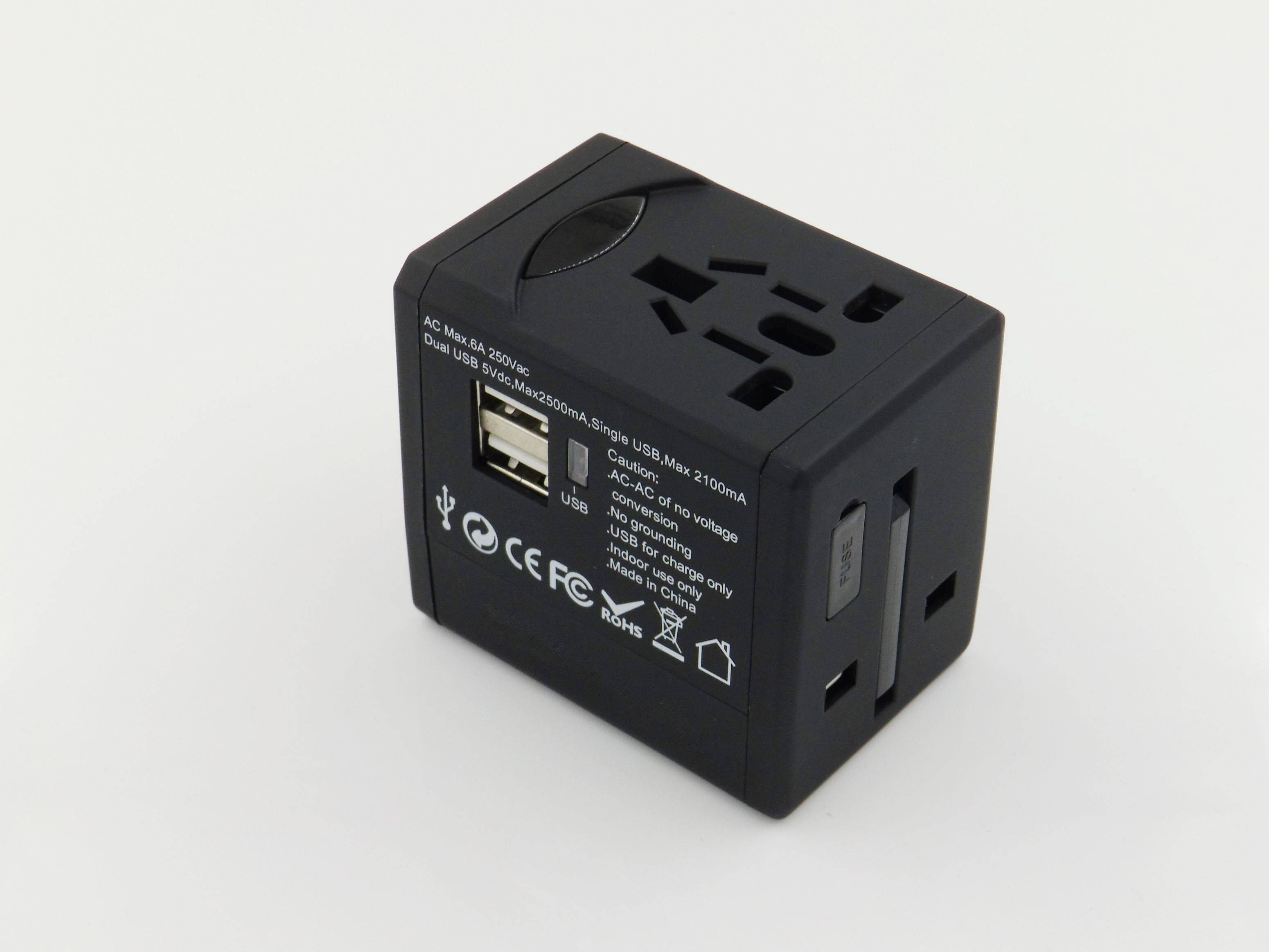 World travel adapter  USB plug  socket