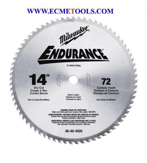 Milwaukee Metal Cutting Cold Cut Tooth Blade 14inType WLP48 40 4505