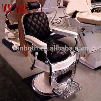 old style iron casting oak wood armrest classic barber chair for salon CB-BC002