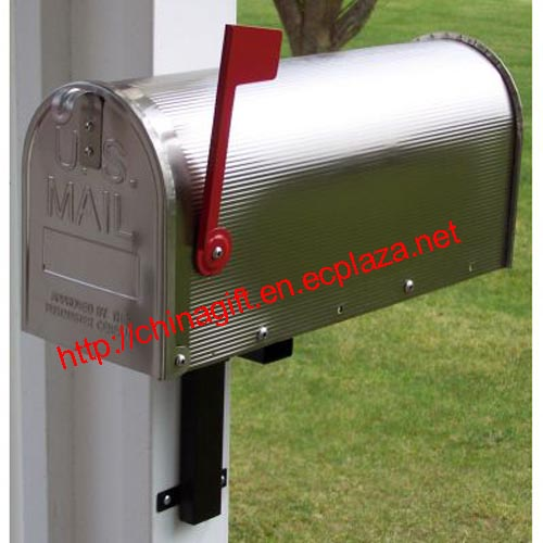 Aluminum US Mailbox Classic American Letterbox Postbox with red flag