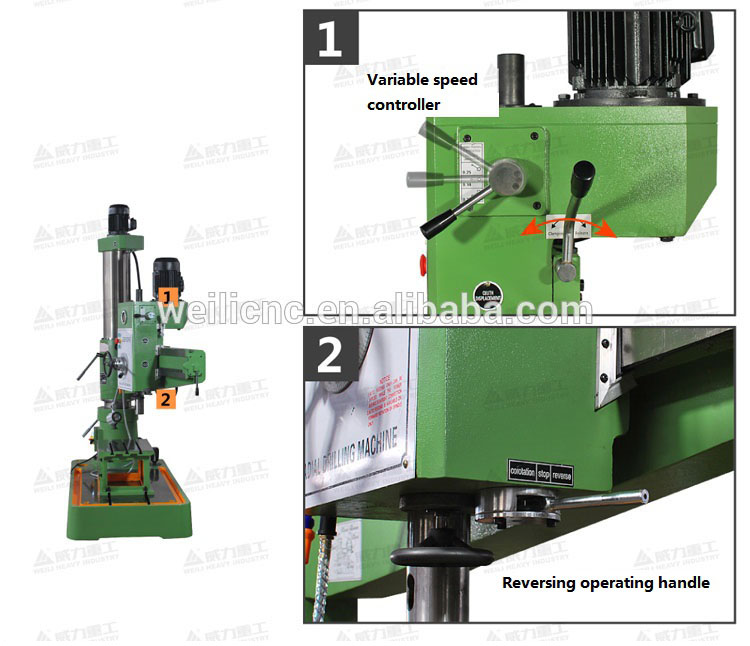 Hot-selling Mechanical radial arm drill press RD1300X40 Radial drilling machines ZQ304013